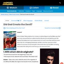 Did God Create the Devil?