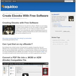 Create Ebooks With Free Software