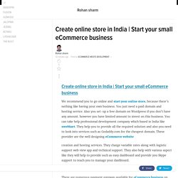 Start your small eCommerce business
