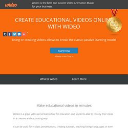 Create Educational Videos Online with Wideo - The Video Marketing Blog