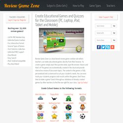 Create Educational Games for School to Play on PC, Laptop, iPad, Tablet and Mobile