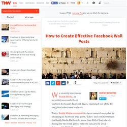 How to Create Effective Facebook Wall Posts - TNW Facebook