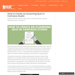 How to Create an eLearning Quiz in Camtasia Studio