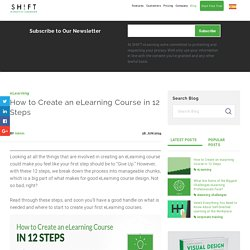 How to Create an eLearning Course in 12 Steps