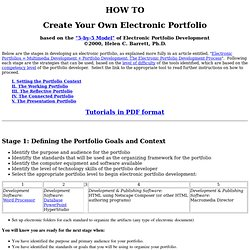 How to Create Your Own Electronic Portfolio