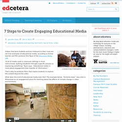 7 Steps to Create Engaging Educational Media