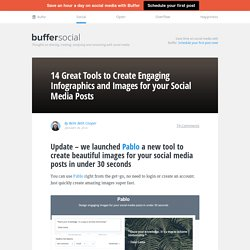 14 Great Tools to Create Engaging Infographics and Images for your Social Media Posts
