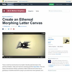 Create an Ethereal Morphing Letter Canvas