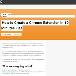 How to Create a Chrome Extension in 10 Minutes Flat
