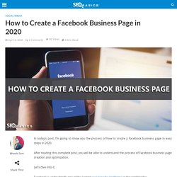 How to Create a Facebook Business Page in 2020 - SEO Basics