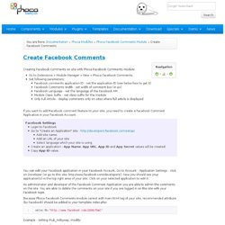 Create Facebook Comments