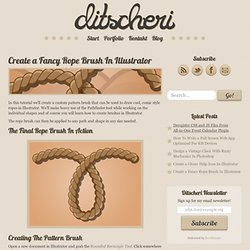 Create a Fancy Rope Brush In Illustrator