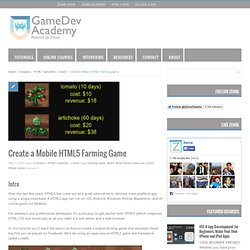 Create a Mobile HTML5 Farming Game