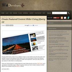 Create Featured Content Slider Using jQuery UI