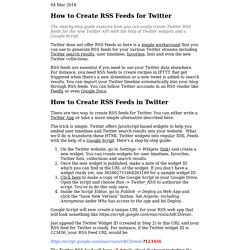 How to Create RSS Feeds for Twitter - Video Tutorial
