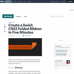 Create a Swish CSS3 Folded Ribbon in Five Minutes