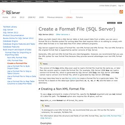 Creating a Format File