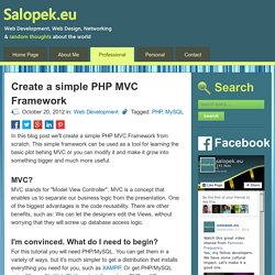 Create a simple PHP MVC Framework