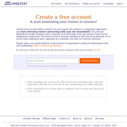 Create a Free Web-Stat Account