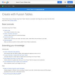 Tutorials for Fusion Tables - Google Fusion Tables Help