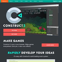 Construct 2 the HTML5 Game Maker