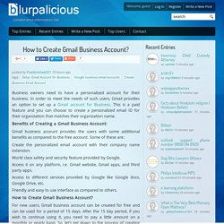 How to Create Gmail Business Account?