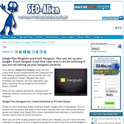how to create google hangout link