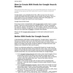 RSS Feeds for Google Searches