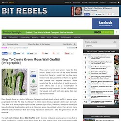 How To Create Green Moss Wall Graffiti… | Bit Rebels