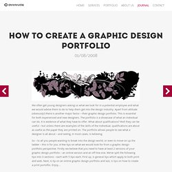 How to create a graphic design portfolio