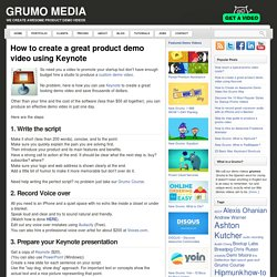 How to create a great product demo video using Keynote