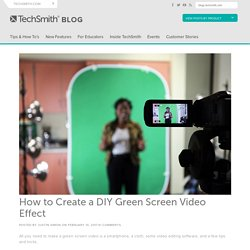 How to Create a DIY Green Screen Video Effect