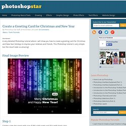 Create a Greeting Card for Christmas and New Year