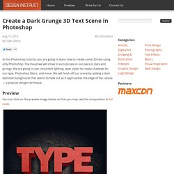 Create a Dark Grunge 3D Text Scene in Photoshop