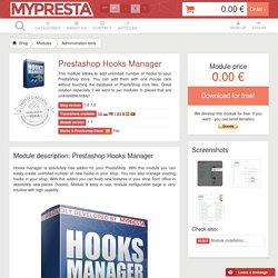 Create new hooks in PrestaShop - free module