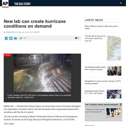 New lab can create hurricane conditions on demand