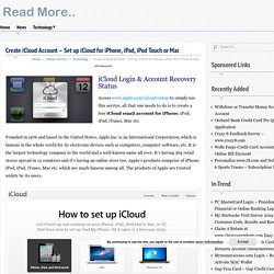 Create iCloud Account - Set up iCloud for iPhone, iPad, iPod Touch or Mac