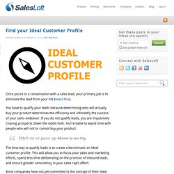 Create An Ideal Customer Profile