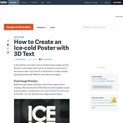 How to Create an Ice-cold Poster with 3D Text