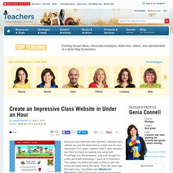 Create an Impressive Class Website in Under an Hour