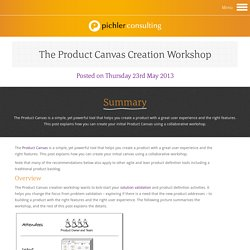 How to Create your Initial Product Canvas