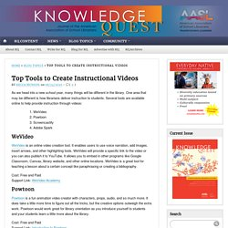 Top Tools to Create Instructional Videos