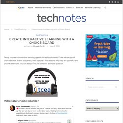 Create Interactive Learning with a Choice Board