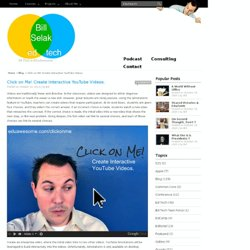 Click on Me! Create Interactive YouTube Videos.