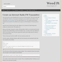 Create an Internet Radio FM Transmitter