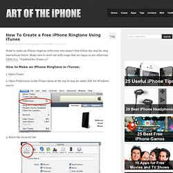 How To Create an iPhone Ringtone Using iTunes « Art of the iPhon