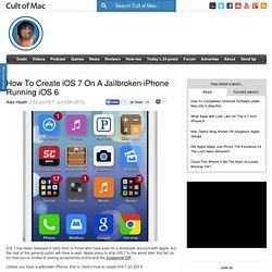 How To Create iOS 7 On A Jailbroken iPhone Running iOS 6