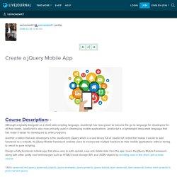 Create a jQuery Mobile App: vernonemrit