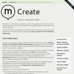 Create.js - Create.js Integration Guide