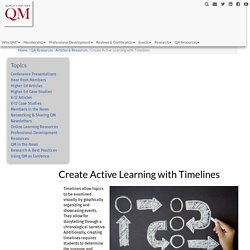 Create Active Learning with Timelines